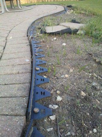 Brick Paver edging repairs showing Paver Protector