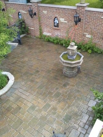 Brick PAver PAtio Sealed with Wet Look Sealer
