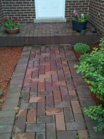 failing brick paver walkway in barrington settled repairs