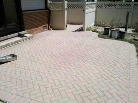 Brick Pavers cleaned and repaired by Paver Protector Inc Huntley, IL