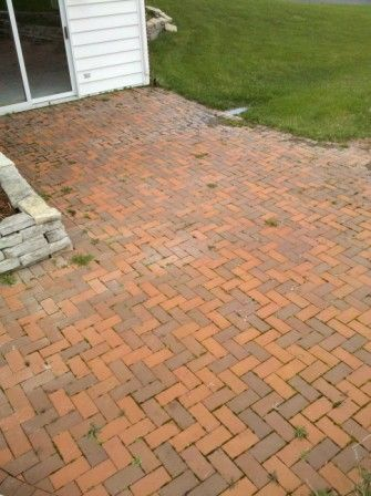 failing brick paver patio in barrington settled repairs