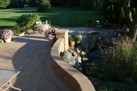 Brick pAver patio sealed by Paver Protector