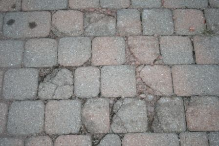 Brick Pavers Driveway Damaged by Rock Salt